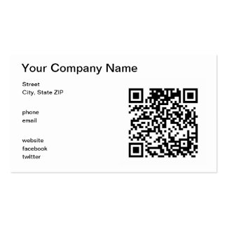 Código de QR Tarjetas De Visita