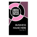 código de QR y blanco rosados del logotipo Tarjetas De Visita