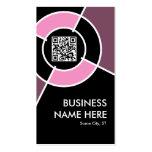 código de QR y blanco rosados del logotipo Plantilla De Tarjeta Personal