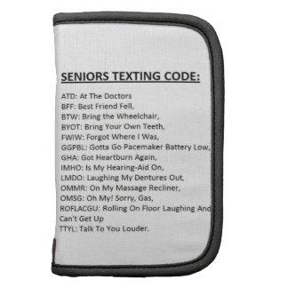 Código de Texting de los mayores Planificador