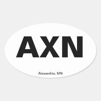 Código del aeropuerto - Alexandría, Minnesota Calcomanía Oval Personalizadas