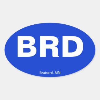 Código del aeropuerto - Brainerd, Minnesota Colcomanias De Ovaladas