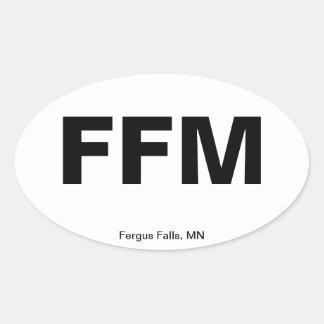 Código del aeropuerto - caídas de Fergus, Minnesot Colcomanias De Óval
