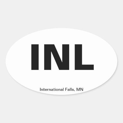 Código del aeropuerto - caídas internacionales, colcomanias óval