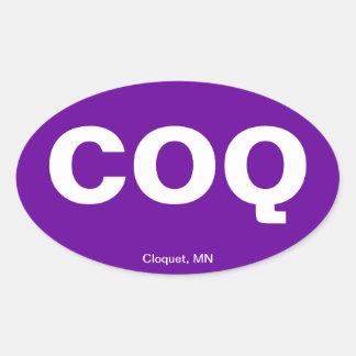 Código del aeropuerto - Cloquet, Minnesota Pegatina Ovaladas Personalizadas
