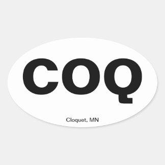 Código del aeropuerto - Cloquet, Minnesota Calcomanía De Oval