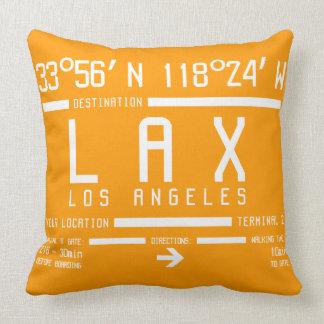 Código del aeropuerto de Los Ángeles Cojín Decorativo