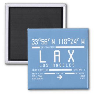 Código del aeropuerto de Los Ángeles Imán Cuadrado