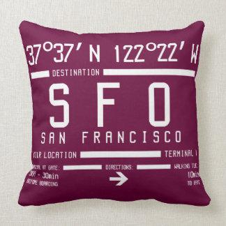 Código del aeropuerto de San Francisco Cojín Decorativo