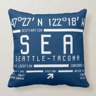 Código del aeropuerto de Seattle-Tacoma Cojín Decorativo