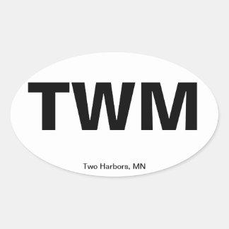 Código del aeropuerto - dos puertos, Minnesota Etiqueta