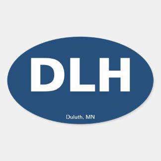 Código del aeropuerto - Duluth, Minnesota Pegatinas De Ovaladas