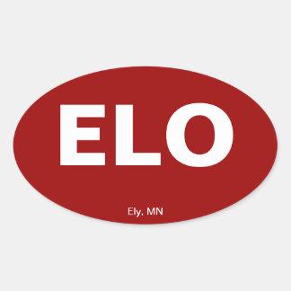 Código del aeropuerto - Ely, Minnesota Colcomanias Ovaladas