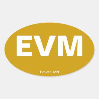 Código del aeropuerto - Eveleth, Minnesota Pegatinas Ovales