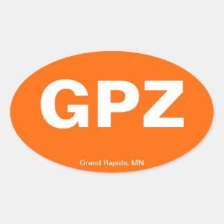 Código del aeropuerto - Grand Rapids, Minnesota Calcomanías De Ovales Personalizadas
