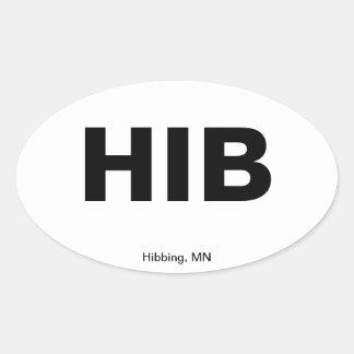 Código del aeropuerto - Hibbing, Minnesota Calcomanías Óvales