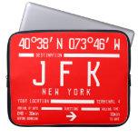 Código del aeropuerto internacional de Nueva York Fundas Ordendadores