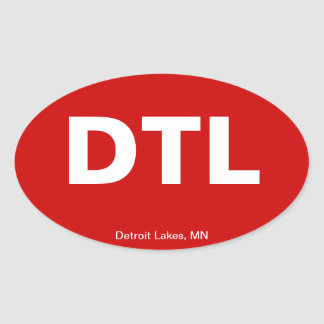 Código del aeropuerto - lagos detroit, Minnesota Pegatina Oval
