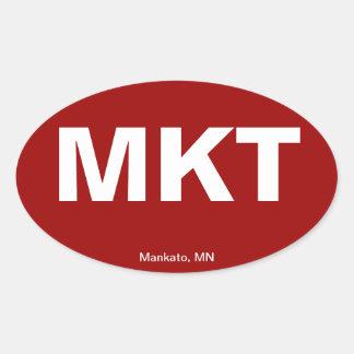 Código del aeropuerto - Mankato, Minnesota Colcomanias De Oval