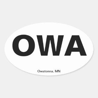 Código del aeropuerto - Owatonna, Minnesota Pegatina De Óval