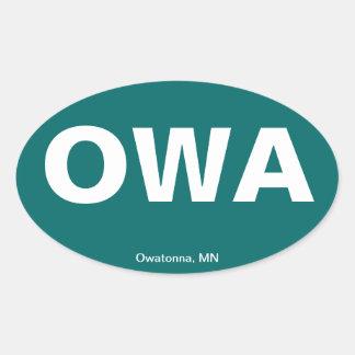 Código del aeropuerto - Owatonna, Minnesota Calcomanías Óvales