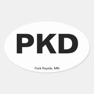 Código del aeropuerto - Rapids del parque, Minneso Colcomanias Ovaladas Personalizadas