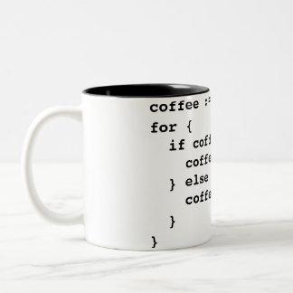 Código del café en Golang Taza De Café De Dos Colores