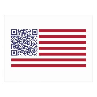 Código del himno nacional QR de la bandera Postal