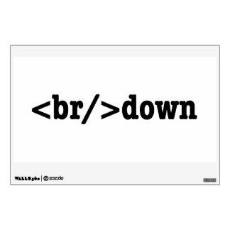 código del HTML de la avería Vinilo Decorativo