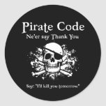Código del pirata: Gracias Etiqueta