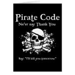 Código del pirata: Gracias Felicitación