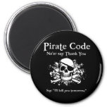 Código del pirata: Gracias Imanes Para Frigoríficos