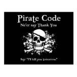 Código del pirata: Gracias Postal