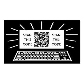 código del qr del ordenador tarjetas de visita