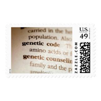 Código genético y definiciones de asesoramiento ge sello