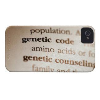 Código genético y definiciones de asesoramiento iPhone 4 Case-Mate coberturas