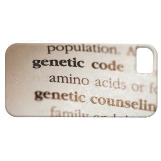 Código genético y definiciones de asesoramiento iPhone 5 fundas
