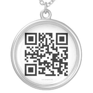 Código internacional de la fundación QR del orangu Colgante Personalizado
