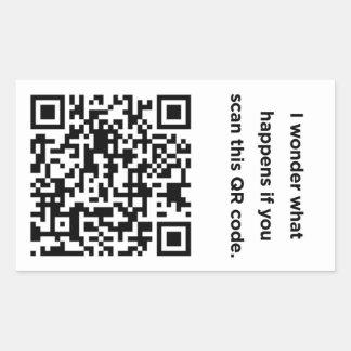 Código inútil de QR: Maravilla Pegatina Rectangular