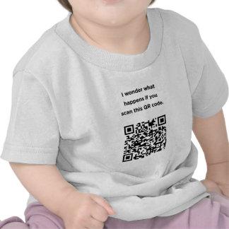 Código inútil de QR: Me pregunto… Camiseta