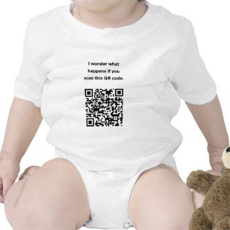 Código inútil de QR: Me pregunto… Traje De Bebé