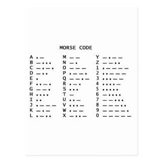 Código Morse Tarjeta Postal