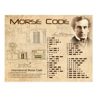 Código Morse Tarjetas Postales
