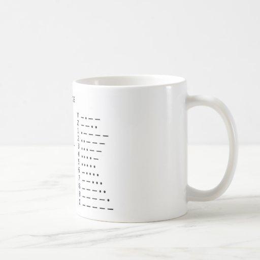 Código Morse Tazas