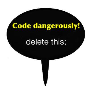 Código peligroso figuras de tarta