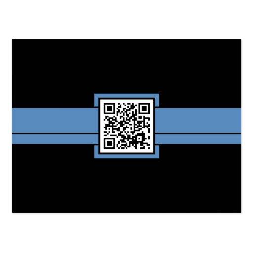 código profesional de QR: cinta azul Postal