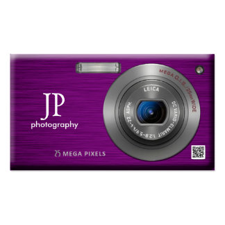 Código profesional del fotógrafo QR de la cámara Tarjetas De Visita