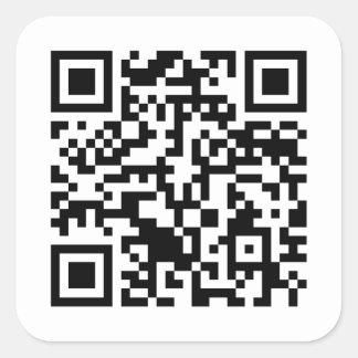 Código Rickrolled del rollo QR de Rick Pegatina Cuadradas Personalizada