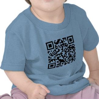 Código Rickrolled del rollo QR de Rick Camisetas