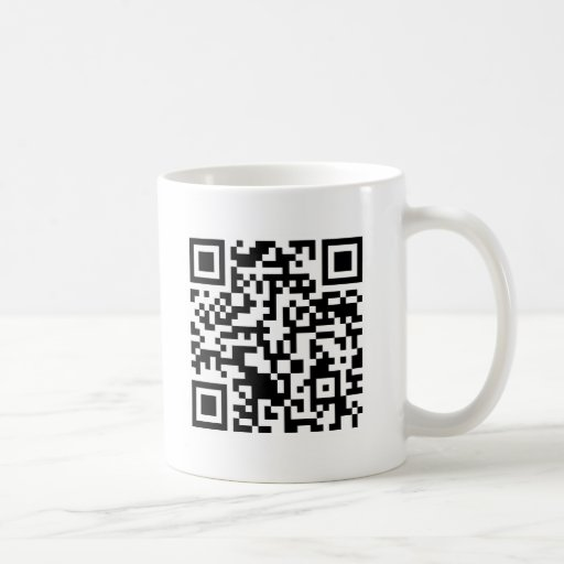 Código Rickrolled del rollo QR de Rick Tazas De Café